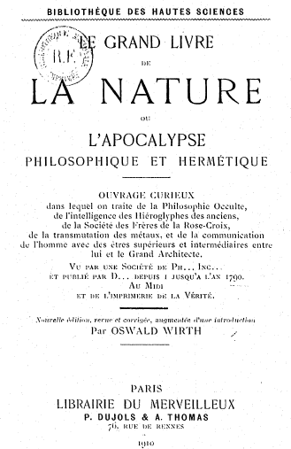 Le grand livre de la Nature ou L'Apocalypse philosophique [MULTI]